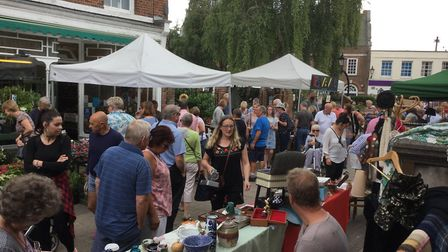 Beccles Antiques Street Market held its second event of the year on Sunday, August 13. Picture: Chri