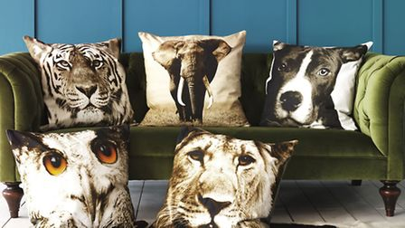 Digital print cushion covers, £55, Graham & Green. Available from September. PA Photo/Handout.