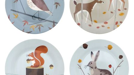 Magpie Forest Friends, set of four plates,£19.99, Mollie & Fred. PA Photo/Handout