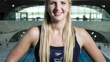 LONDON, ENGLAND - APRIL 09: Rebecca Adlington poses for a picture at the top of the 10m diving plat