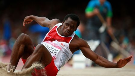 England's JJ Jegede at the Commonwealth Games in Glasgow