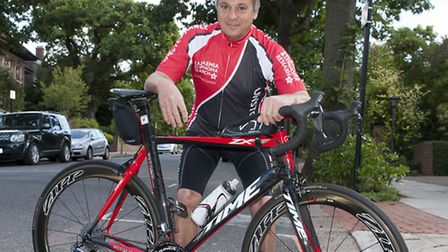 Dr John Brook who is doing a 100-mile cycle ride in memory of Joe Benett. Picture: Nigel Sutton