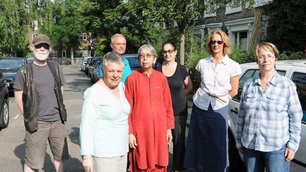 Residents of Quadrant Grove in Kentish Town are defiant over a neighbour's plan to build a basement.
