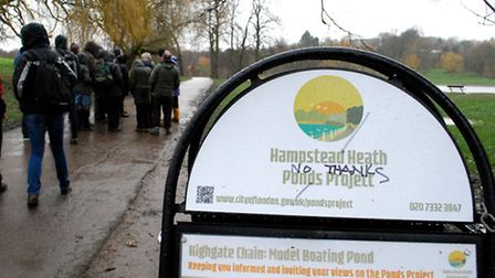 Dam Nonsense campaigners were due to hand a 11,500-signature petition opposing dam work on Hamptead
