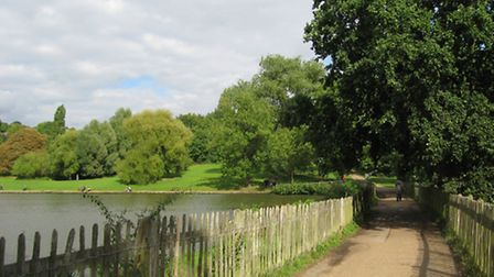 Before: The Boating Pond on Hampstead Heath as it is today