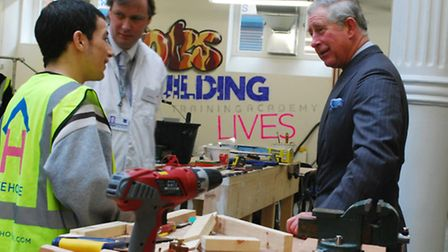 HRH Prince Charles visits Arlington House's training academy in 2011. Picture: Polly Hancock