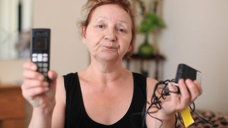 Resident Rita Rowe is upset after lightening struck the aerials of the building damaging her telepho