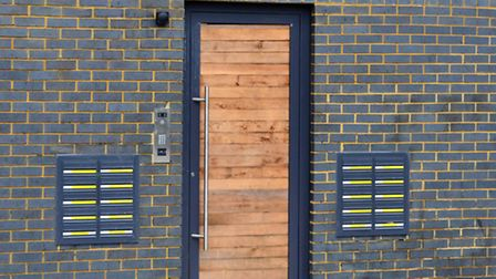 The 'poor door' entrance for affordable housing residents of the Prince's Park development in Kentis