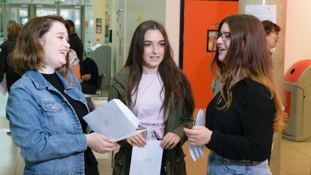 Picking up their results was the culmination of two years of hard work. Picture: Courtesy of Lowesto