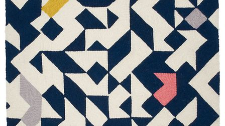 Conran Modern Pop Colour Rug, Navy Mix, from �129, Marks & Spencer. PA Photo/Handout
