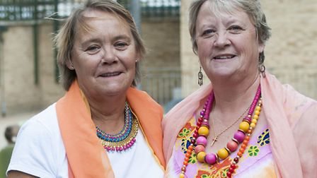 Sisters Christine Freed (left) and Jeanette Hapley. Picture: Nigel Sutton.