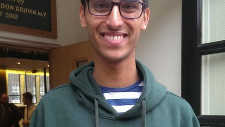 Highgate pupil Riaz Razaq, 18, is going to Durham to study geography after getting three As
