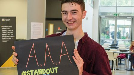 Euan Pitchers is going on to study Chemistry at the University of Nottingham. Picture: Courtesy of L