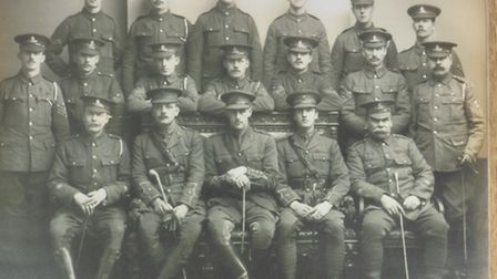 Members of the Hampstead Heavies, including Major H G Paris (centre front)