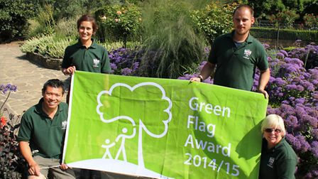 Pictured are City of London parks staff Kai Kan, Anna Choonpicharn, Daniel Poplar and Megan White-Do