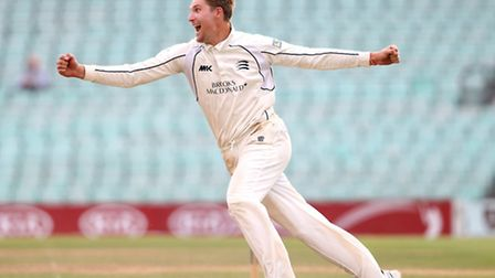 Ollie Rayner, pictured in action for Middlesex CCC, was a key man for Hampstead with the bat and bal
