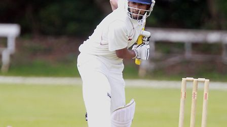 Mubasher Hassan was the top scorer in the match with 64 as Hampstead beat Finchley. Pic: Max Flego