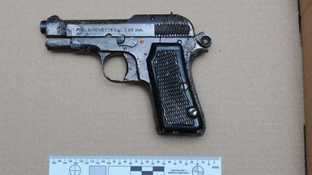 The gun which was used by the boy.