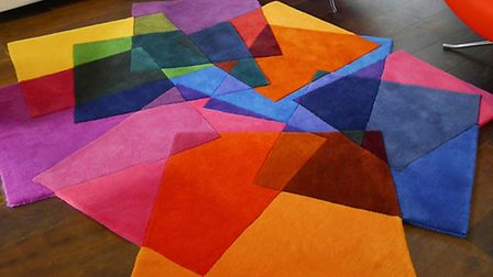 After Matisse rug, inspired by Matisse's Cut Outs exhibition