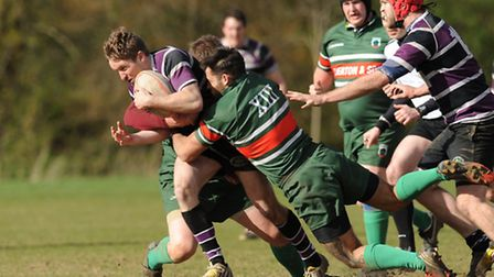 Ben Parker (left) scored two first-half tries but Belsize Park were defeated. Pic: Paolo Minoli