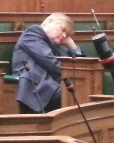 Mr Hitchins appeared to be sleeping at a health scrutiny meeting at Camden Town Hall in March