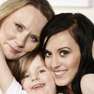Jenny Molloy (Left) and daughter Lauren (right) and granddaughter Lily (centre)