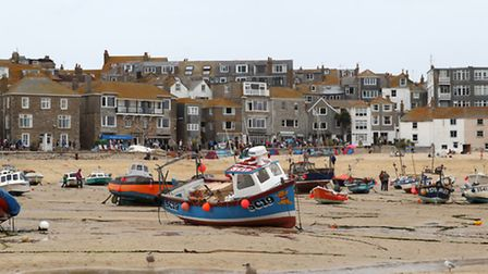 Tthe Harbour at St. Ives Cornwall.