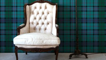 Edinburgh Tartan wallpaper mural, £79, Digetex Home. PA Photo/Handout.