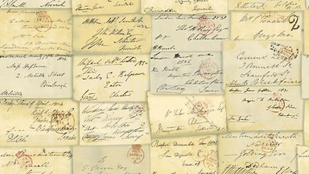 Undated Handout Photo of Andrew Martin Love Letter wallpaper, £49.90, Occa-home.co.uk. PA Photo/Hand