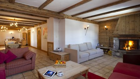 The lounge area in Chalet Marmau.