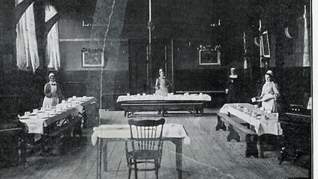 The dining room at the refuge, pictured in a photo published in a leaflet called �Refuge for the Des