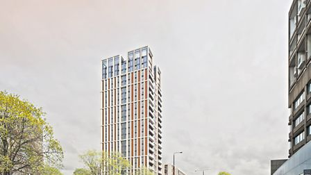 An artist's impression of the new Swiss Cottage tower in Avenue Road