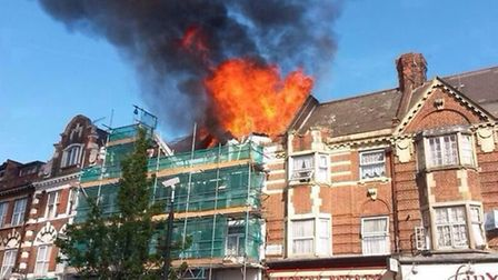 The fire broke out in Stamford Hill. Photo Betzalel Just.