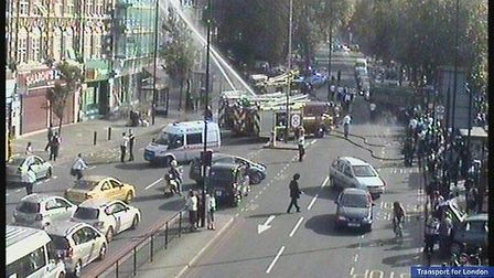 Images of fire by Transport for London