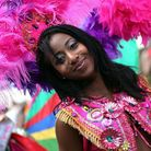 Colourful performer at Hackney One carnival