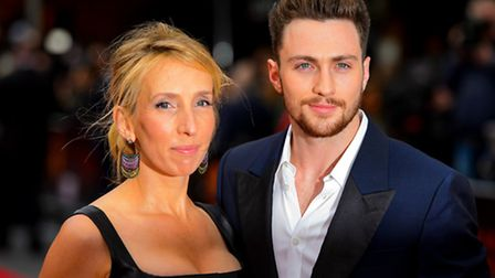 Sam and Aaron Taylor-Johnson. Picture: PA Wire/Dominic Lipinski.