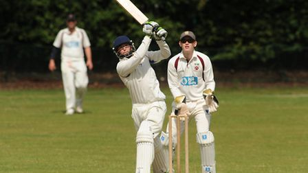 Freddie Fairhead hits out for Hampstead. Pic: Paolo Minoli