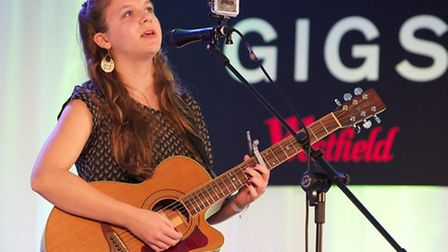 Maya Delilah, from Islington, played in the grand final of the Gigs Big Busk