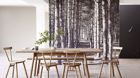Go with the grain: Whitstable oak dining table, £1,795; stool from £195; four legged chair, £245, He