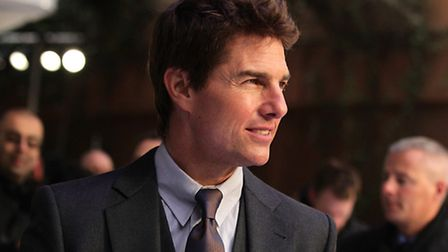Tom Cruise arriving for the premiere of Oblivion at the BFI IMAX, London