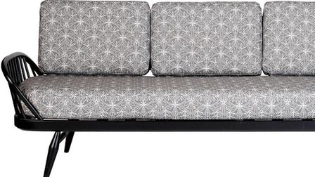 John Lewis 150 Ercol Studio Couch upholstered in a silver Archive Cummersdale print, �2,750. PA Phot