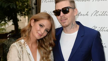 Millie Mackintosh and Professor Green, Stephen Manderson arriving at the launch of Millie Mackintosh