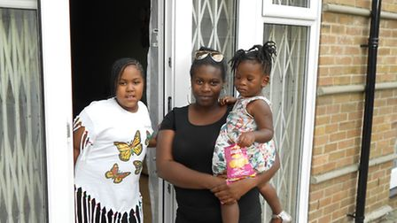 Chemar, 8, Dawn, 33, and Sian Wagstaffe, 2, Wagstaffe were evacuated