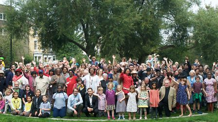 Residents gathered in celebration as West Hackney Recreation Ground reopened
