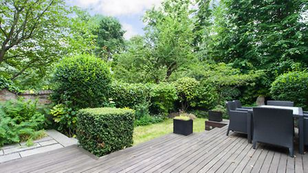 Garden of two-bedroom garden flat available through Parkheath for �1,950,000