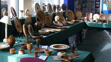 The Waveney and District Woodturners Club held a successful exhibition at Lowestoft Library, where a