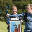 Artist Klaus Wuttke and archer Nick Hare from Aquarius Archery Club. Picture: Nigel Sutton.