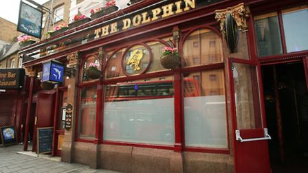 The Dolphin Pub, in Mare Street, Hackney.