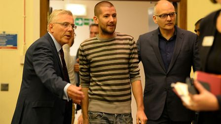 British Ebola sufferer William Pooley was discharged from the Royal Free today. Picture: Andrew Matt