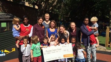 Sainsbury's Essex Road donated £200 to Mildmay Community Nursery to fund musical instruments for the